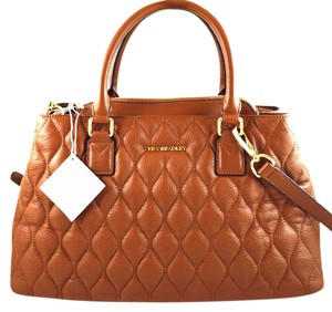 Vera Bradley Satchel in brown cognac