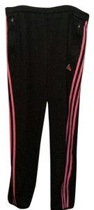 adidas New Adidas black pink stripe jogger ankle pants xl