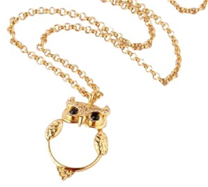 Kate Spade KATE SPADE 12K Gold-Plated Mother Of Pearl Owl Pendant Necklace