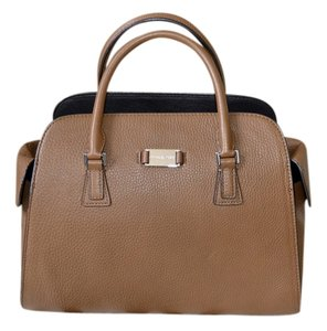 Michael Kors Chic Leather Lined Structured Satchel in Cinnamon