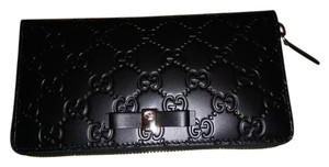 Gucci Brand New Bow Gucci Signature Zip Around Wallet: STYLE 388680 CWC1G 10