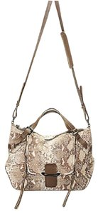 Kooba Designer Strap Leather Satchel in Animal Print