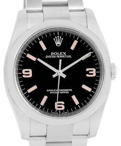 Rolex Rolex Oyster Perpetual 36 Pink Baton Hour Markers Unisex Watch 116000