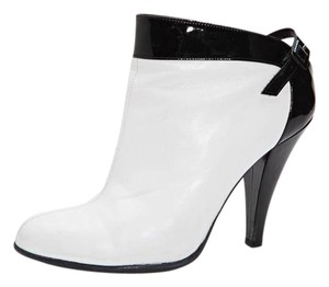 Chanel Heel Leather Bootie WHITE Pumps