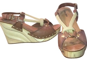 Miu Miu brown Wedges