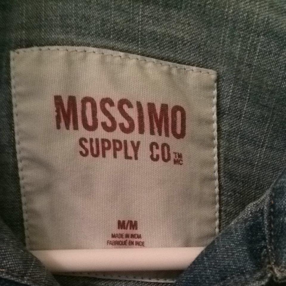 Mossimo Supply Co  Denim Shirt Western Pockets Casual Distressed Vintage  Target Button-down Top Size 8 (M) 52% off retail