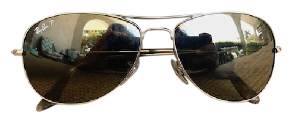 121271520d6 Ray-Ban Ray-Ban RB 3562 Silver Oval Frame Polarized Sunglasses Image 0 ...
