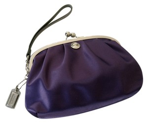 Coach Wristlet Purple Clutch