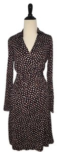 Diane von Furstenberg short dress Black, Red, White Wrap Polka Dot Spring Summer Office on Tradesy