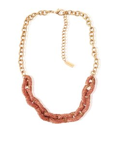 BaubleBar BAUBLEBAR Pink Rhinestones Paved Gold Necklace