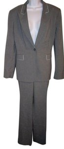 Tahari Pants Suit Pale Blue Pinstripes and pipping 18