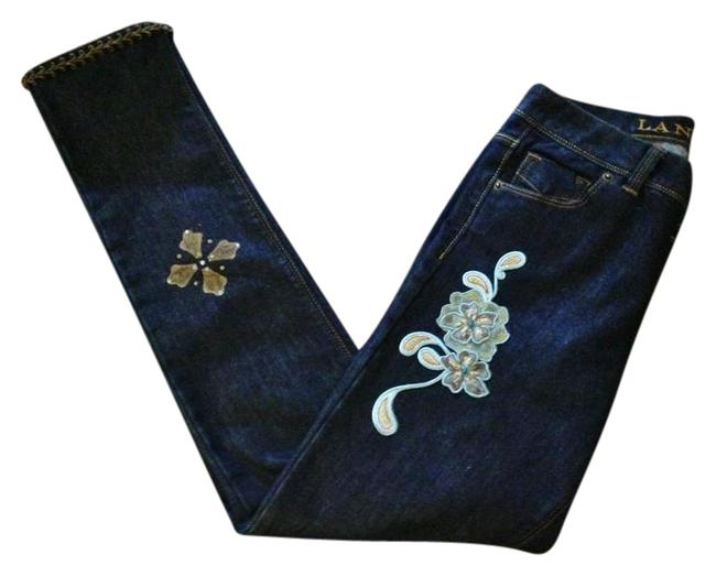 Preload https://img-static.tradesy.com/item/21199611/dark-blue-rinse-hand-embellishedpatched-painted-french-trim-cigarette-straight-leg-jeans-size-25-2-x-0-4-650-650.jpg