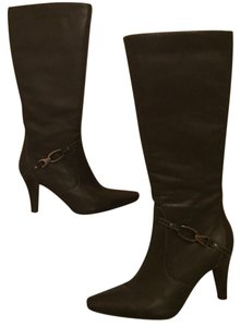 Worthington Knee High Leather Sleek brown Boots