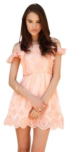 SABO SKIRT short dress Peach on Tradesy