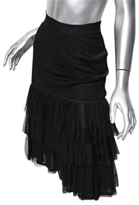 Chanel Tulle Ruffle Skirt black