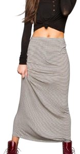 Brandy Melville Maxi Skirt Tan and Black Stiped