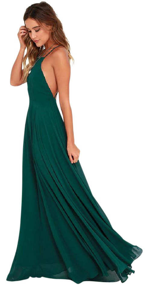 172a2028cd4b Lulu*s Dark Green Mythical Kind Of Love Maxi Long Formal Dress Size ...