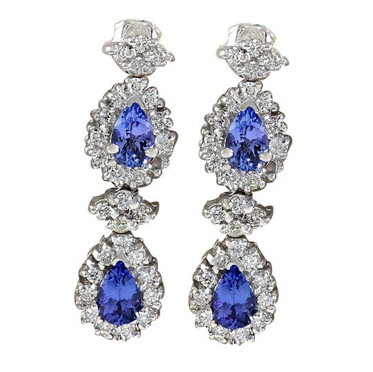 Preload https://img-static.tradesy.com/item/21199803/blue-316-carat-natural-tanzanite-14k-white-gold-diamond-earrings-0-0-540-540.jpg