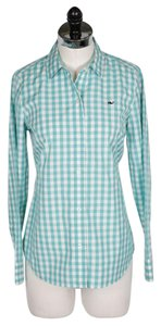 Vineyard Vines Top Turquoise and White