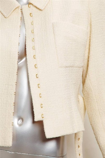 Chanel Belted 1996 ivory Jacket