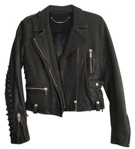 Barbara Bui forest green Leather Jacket