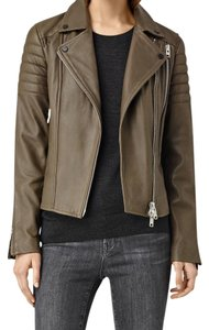 AllSaints Khaki Leather Jacket