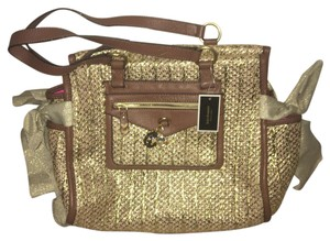 Juicy Couture Satchel in Brown/Gold