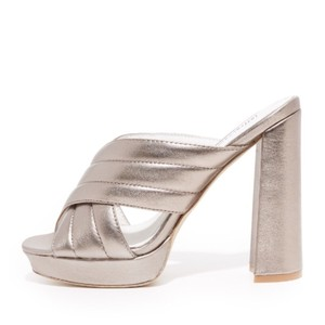 Jeffrey Campbell pewter Mules