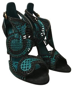 Sergio Rossi Black/Teal Formal