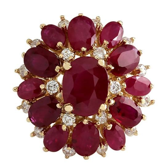 Preload https://img-static.tradesy.com/item/21200162/red-747-carat-natural-ruby-14k-yellow-gold-diamond-ring-0-0-540-540.jpg