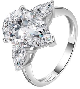 Other 4ct pear cut AAA CZ engagement ring