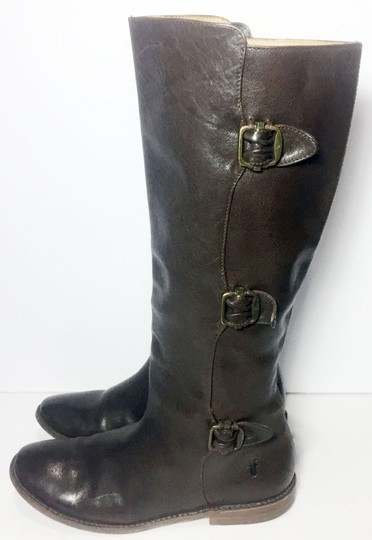 Frye 77066 Paige Motorcycle Size 7.5 Women Size 7.5 Brown Boots
