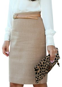 J.Crew Wool Pencil Size 00 Skirt Cream/Beige