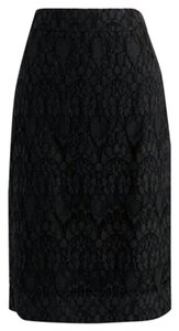 J.Crew Lace Pencil Skirt Black