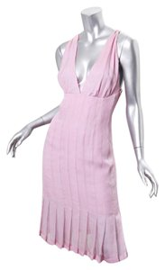 Chanel short dress pink Women on Tradesy