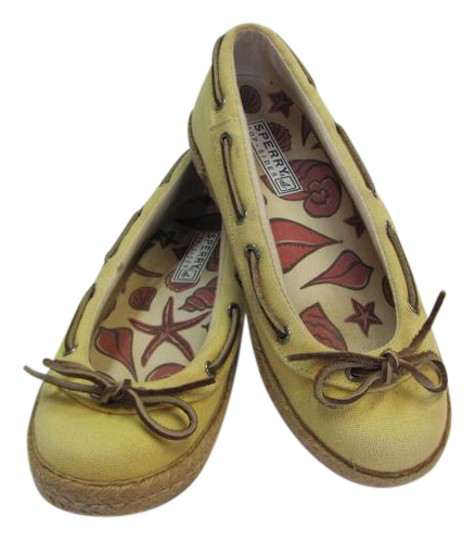 Preload https://img-static.tradesy.com/item/21200302/sperry-yellow-m-good-condition-flats-size-us-7-regular-m-b-0-1-540-540.jpg