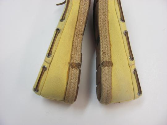 Sperry Size 7.00 M Good Condition Yellow, Flats