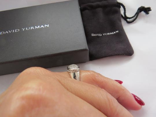David Yurman Oval Collection East/West Diamond SS Ring