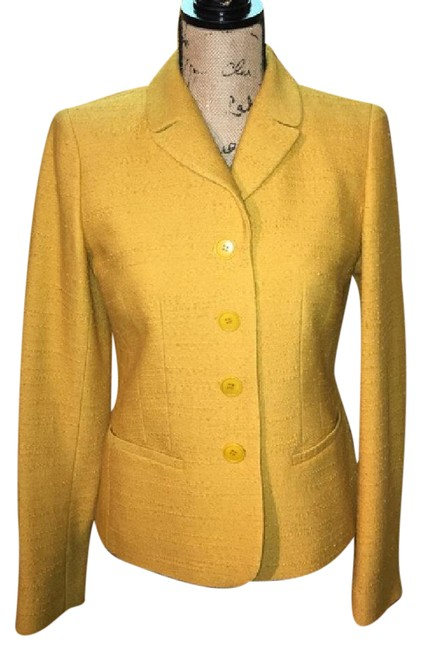 Preload https://img-static.tradesy.com/item/21200382/lafayette-148-new-york-yellow-mustard-blazer-excellent-condition-shorts-suit-size-2-xs-0-1-650-650.jpg