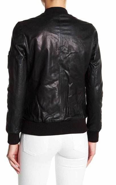 Muubaa Calf Hair Suede Long Sleeves V-neck Leather Jacket