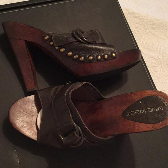 Nine West brown Mules