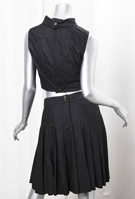 Chanel short dress black Wool on Tradesy