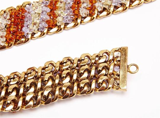 Chanel Gold Chain Amber Purple BEAD WAIST BELT