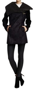 Sam Edelman Suede Leather Shearling Coat