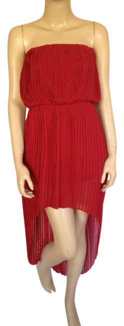 Preload https://img-static.tradesy.com/item/21200531/bcbgeneration-red-bcbg-blouson-pleated-sheer-extra-small-mid-length-night-out-dress-size-2-xs-0-1-650-650.jpg
