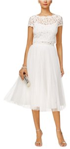Adrianna Papell Two Piece Lace A-line Tulle Dress