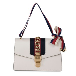 Gucci Sylvie Chain Front Flap Logo Shoulder Bag