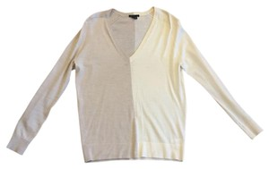 Theory Color-blocking Cashmere Wool Soft Office Sweater