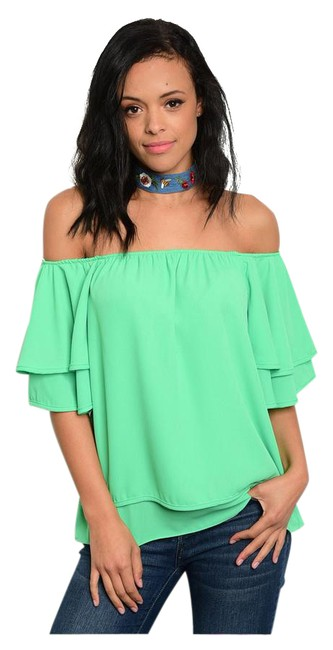 Preload https://img-static.tradesy.com/item/21200644/green-new-perfect-spring-summer-ruffle-tunic-size-12-l-0-1-650-650.jpg