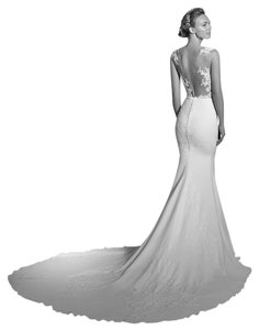 Pronovias White 2017 Atelier Vicenta Modern Wedding Dress Size 4 (S)